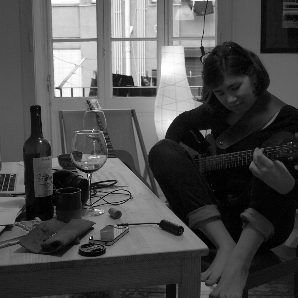 Guitar playing in living room betgrr