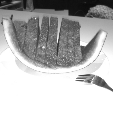 Watermelon cut in slices